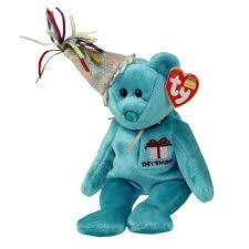 ty beanie baby december teddy birthday bear hat 9