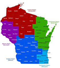 Map Of Northern Wisconsin by Wisconsin Regional Offices Division Of Quality Assurance