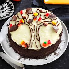 Decorating Cakes At Home Autumn Tree Cake Recipe Taste Of Home