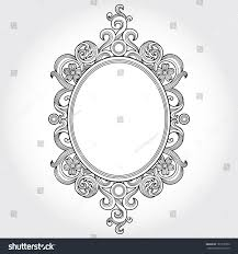 vintage ornate frame place your text stock vector 181378730