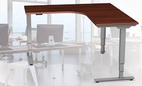 l shaped standing desk l shaped adjustable height table standup standing desk series