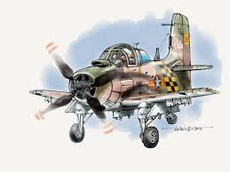 vnaf a 1e skyraider of the 23rd tactical wing based at bien hoa