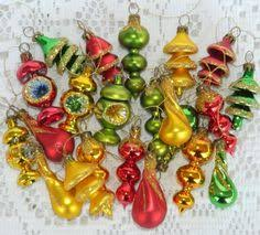 5 vintage miniature teardrop mercury glass christmas ornaments