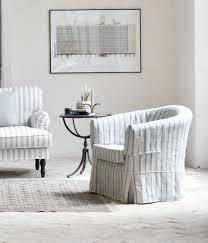 provencal vintage ikea tullsta armchair covered in bemz brera frino cobalt stripe shabby chic meets france