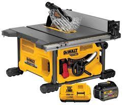 Table Saw Laminate Flooring Dewalt Flexvolt Table Saw Dcs7485t1 U2013 Let U0027er Rip With 60 Volts
