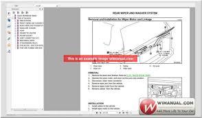 nissan almera wiper motor nissan infiniti workshop manuals pack full download u2013 auto