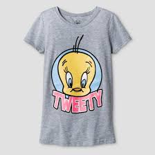 girls u0027 looney tunes tweety bird face logo graphic shirt