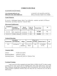Bpo Jobs Resume Format For Freshers by College Mechanical Engineering Resume Cipanewsletter Client