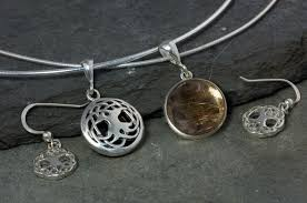 sterling silver large necklace images Celtic tree of life jewelry set large sterling silver celtic jpg
