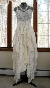 recycled wedding dresses white ivory alternative tattered boho hippie