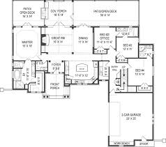 Spanish House Plans Craftsman House Plan With 4 Bedrooms And 3 5 Baths Plan 9616