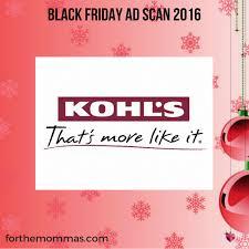 black friday kohls kohl u0027s black friday ad scan 2016 ftm