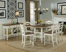 pub style dining table bar table dining set white dining room furniture concord square