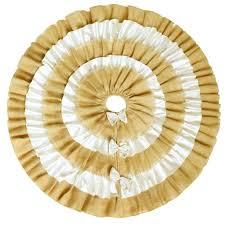 wholesale ruffler jute burlap christmas tree skirt extra large 60