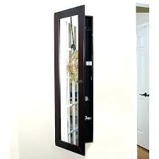 Wall Mount Jewelry Cabinet Medium Size Of Over The Door 48 Jewelry Armoire With Mirror Mirror
