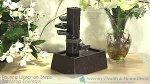 Waterfalls Decoration Home Home Decor Water Pouring On Steps Tabletop Fountain Youtube