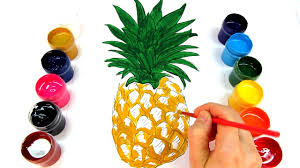 coloring for children paint this beautiful pineapple coloring