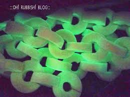turn upcycled pool noodle into glow in the dark chains