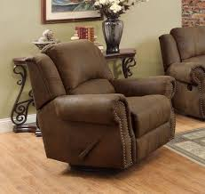 furniture cheap high back brown leather rocker recliner swivel