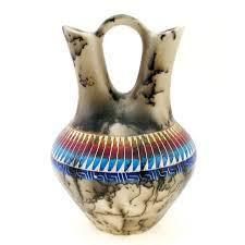 Native American Wedding Vase Native American Horsehair Wedding Vase By Marilyn Kinlichee