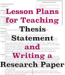 how to write a report paper example sample lesson plans for teaching thesis statement and how to write sample lesson plans for teaching thesis statement and how to write a research paper