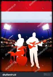 Red Flag Band Live Music Band Austria Flag On Stock Vector 56289616 Shutterstock