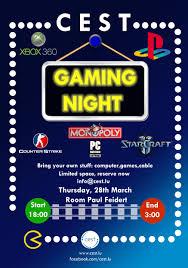 gaming night cest