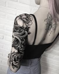 women s tattoo sleeve designs snake woman sleeve tattoo idea snake tattoos pinterest woman