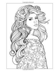 color beautiful women coloring book jason