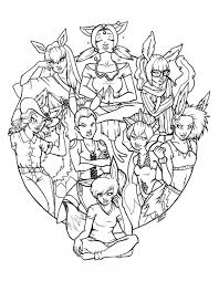 pokemon eevee evolutions coloring pages coloring pages kids