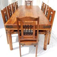 Solid Wood Dining Room Sets Wonderful Large Rustic Dining Table Seat Decoration Design Solid