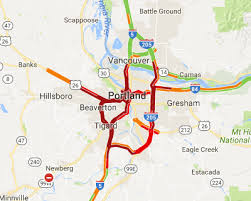 traffic map oregon traffic and road resources portland area speed map