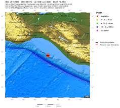 Chiapas Mexico Map by 5 5 Magnitude Earthquake Off Coast Of Chiapas Mexico 2015 09 08