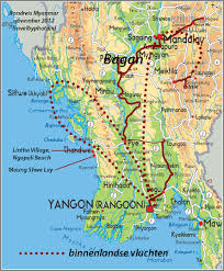 Map Burma Travelogue Myanmar Burma