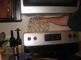 tile backsplash behind stove peel and stick kitchen ideas