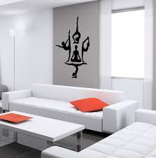 direct selling home decor direct selling all kinds of posture yoga people wall sticker home