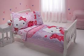 Toddler Bedroom Sets For Girls by Amazon Com Sanrio 4 Piece Toddler Bedding Set Hello Kitty And