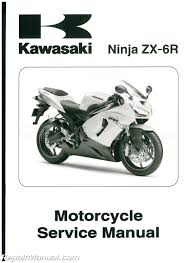 kawasaki zx6r motorcycle service manual 2005 2006