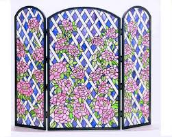 antique decorative fireplace screens