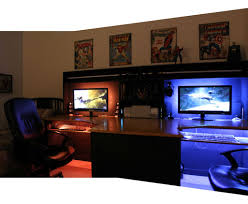 gaming desk plans desk m1tur amazing pc gaming desk back lighting improved
