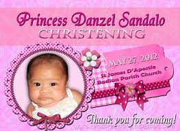 Invitation Cards For Christening Renz Creations Invitations And Giveaways Princess Danzel U0027s