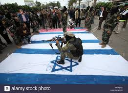 Position Of Flags Palestinian Islamic Jihad Militants Takes Position On An Israeli