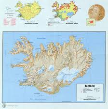 Iceland On Map Large Detailed Map Of Iceland With Relief Roads Cities Airports
