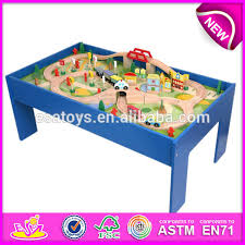 thomas the train wooden track table 2015 wooden railway train toy for kids pop wooden railway train set