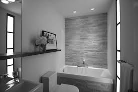 luxurious bathroom ideas with grey concrete wall design and white