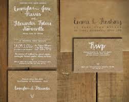 rustic wedding invitation kraft wedding invite etsy