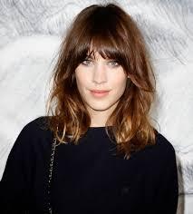 medium hair length bangs emma stone medium length straight hair