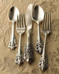 92 piece 20th century baroque silver plated flatware flatware