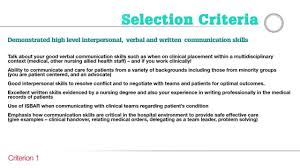 careers guide to addressing the nursing and midwifery selection