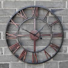 Grande Horloge Murale Design Pas Cher 12 Avec Pas Cher Surdimensionné 3d Rétro Romaine Vintage En Fer Forgé Grande